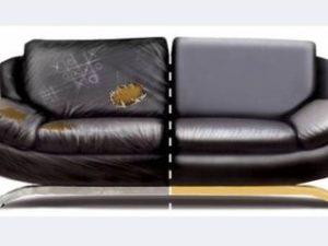 Перетяжка кожаного дивана в Краснодаре